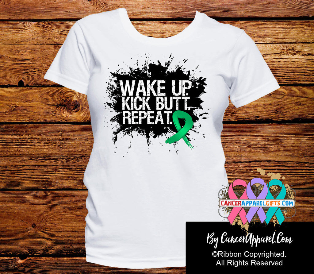 Liver Cancer Shirts Wake Up Kick Butt and Repeat
