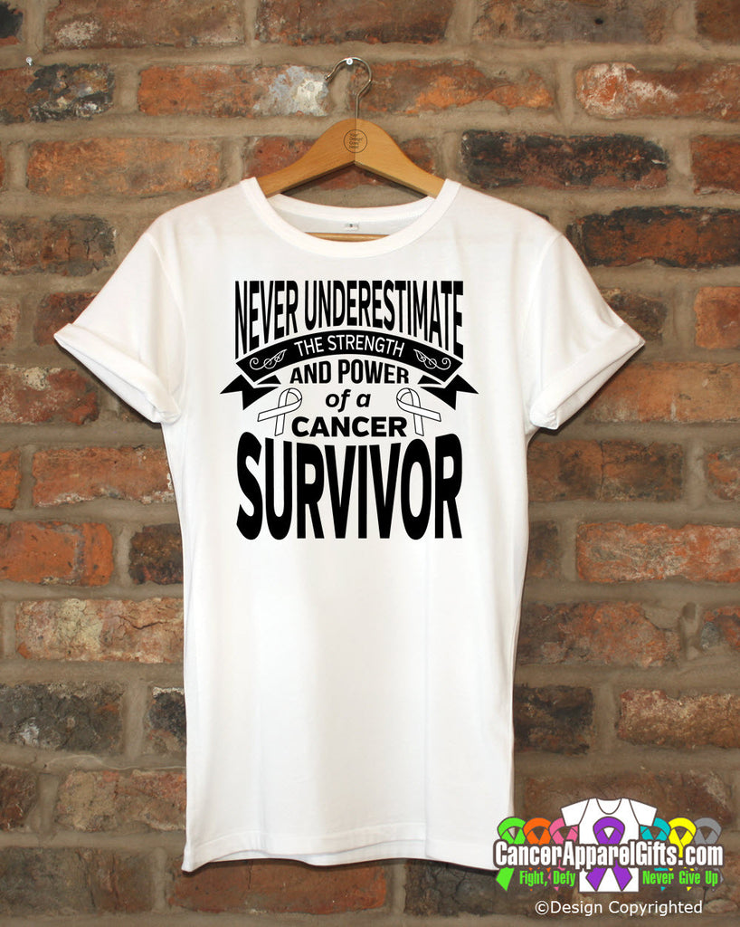 Lung Cancer Never Underestimate Strength Shirts