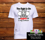 Lung Cancer The Fight is On Men Shirts