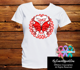 Lung Cancer Stunning Butterfly Shirts - Cancer Apparel and Gifts