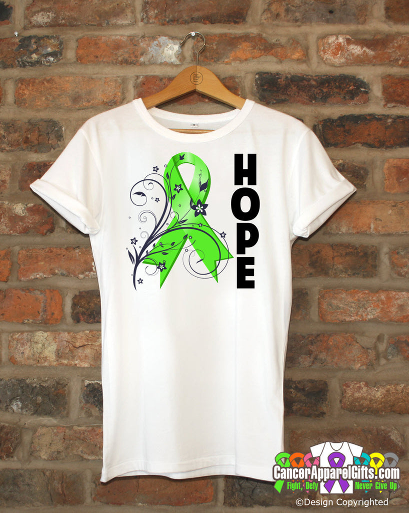 Lymphoma Floral Hope Ribbon T-Shirt