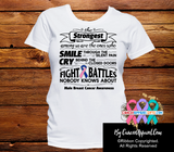 Male Breast Cancer The Strongest Among Us Shirts - Cancer Apparel and Gifts