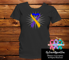 Bladder Cancer Awareness Heart Ribbon Shirts - Cancer Apparel and Gifts