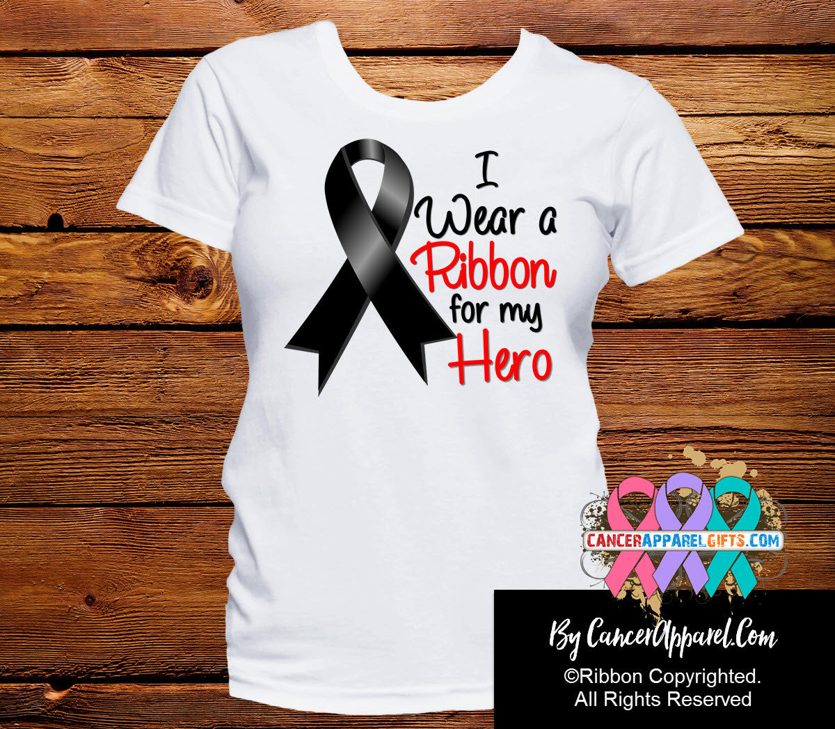 Melanoma For My Hero Shirts - Cancer Apparel and Gifts