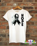 Melanoma Floral Hope Ribbon T-Shirt