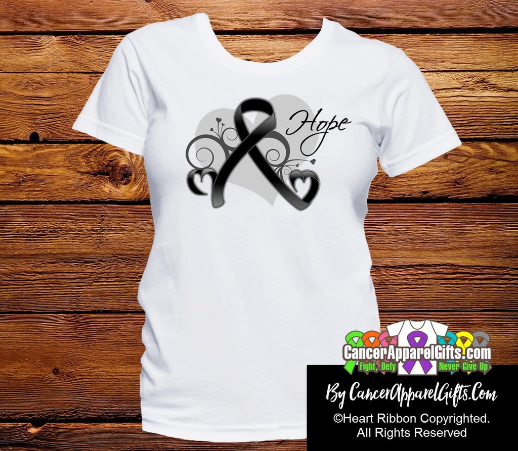 Melanoma Heart of Hope Ribbon Shirts