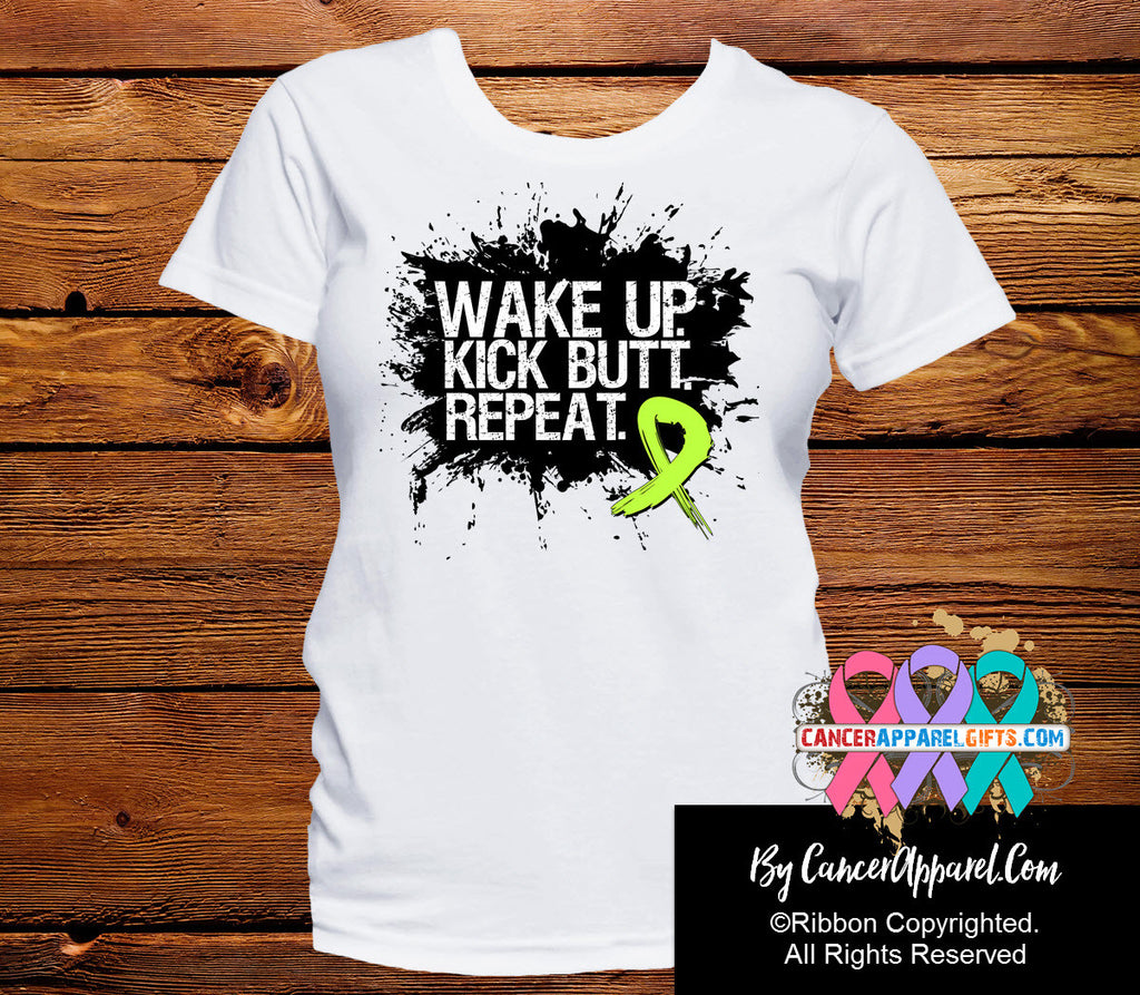 Non-Hodgkins Lymphoma Shirts Wake Up Kick Butt and Repeat