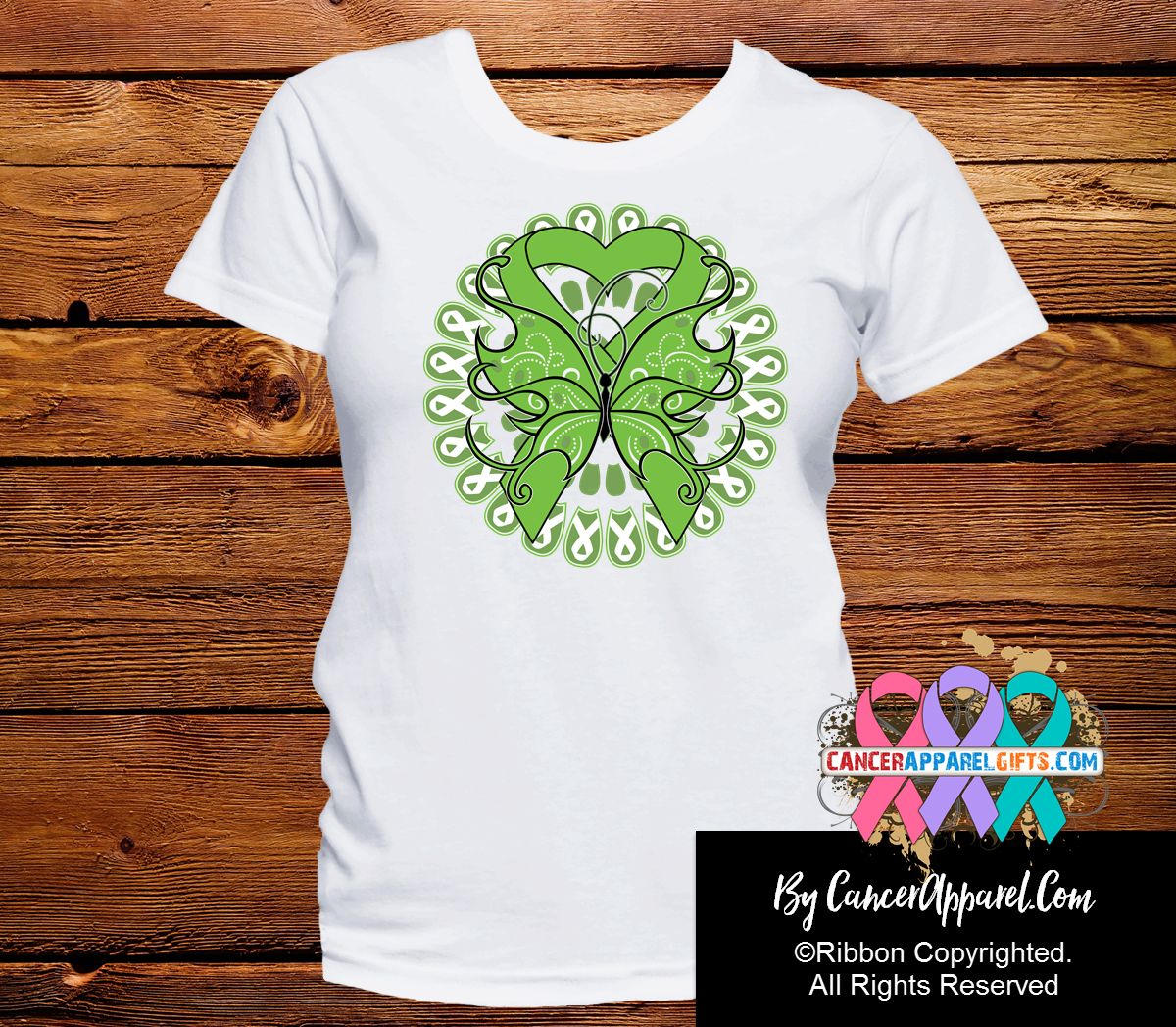 Non-Hodgkins Lymphoma Stunning Butterfly Shirts - Cancer Apparel and Gifts