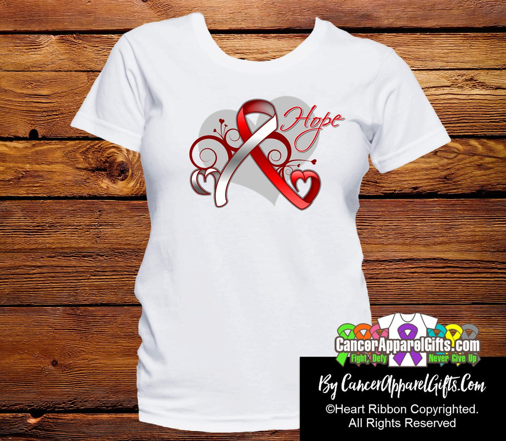Oral Cancer Heart of Hope Ribbon Shirts