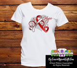 Oral Cancer Heart of Hope Ribbon Shirts - Cancer Apparel and Gifts