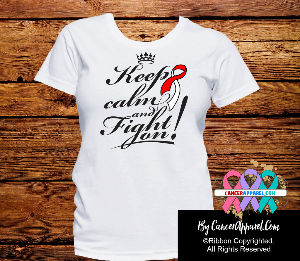Oral Cancer Keep Calm and Fight On Shirts