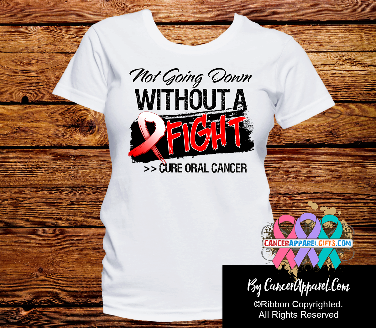Oral Cancer Not Going Down Without a Fight Shirts - Cancer Apparel and Gifts