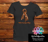 Kidney Cancer Awareness Faith Courage Shirts - Cancer Apparel and Gifts