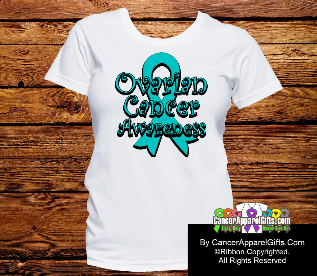 Ovarian Cancer Awareness Ribbon Shirts