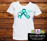 Ovarian Cancer Heart of Hope Ribbon Shirts - Cancer Apparel and Gifts