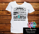 Ovarian Cancer  The Strongest Among Us Shirts - Cancer Apparel and Gifts
