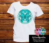 Ovarian Cancer Stunning Butterfly Shirts - Cancer Apparel and Gifts