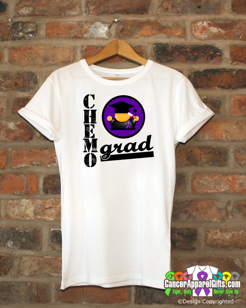Pancreatic Cancer Chemo Grad Shirts