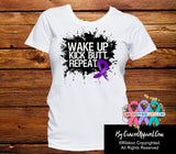Pancreatic Cancer Shirts Wake Up Kick Butt and Repeat - Cancer Apparel and Gifts