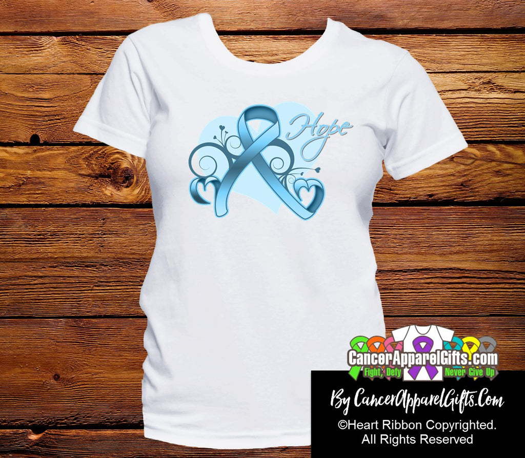 Prostate Cancer Heart of Hope Ribbon Shirts