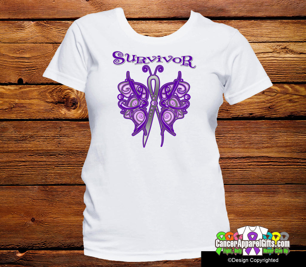 Pancreatic Cancer Survivor Celtic Butterfly Shirts