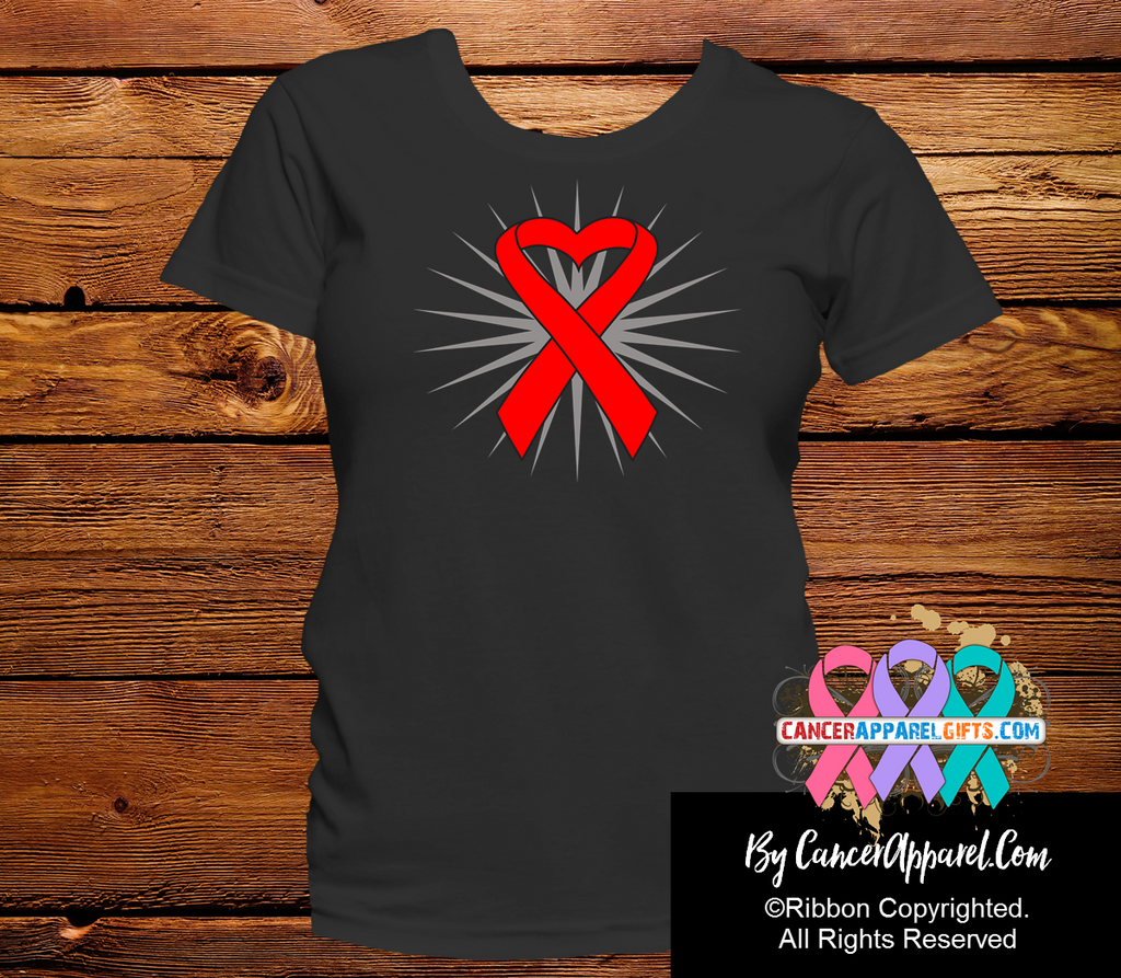 Blood Cancer Awareness Heart Ribbon Shirts