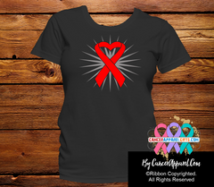 Blood Cancer Awareness Heart Ribbon Shirts - Cancer Apparel and Gifts