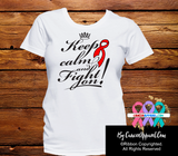 Blood Cancer Keep Calm Fight On Shirts - Cancer Apparel and Gifts