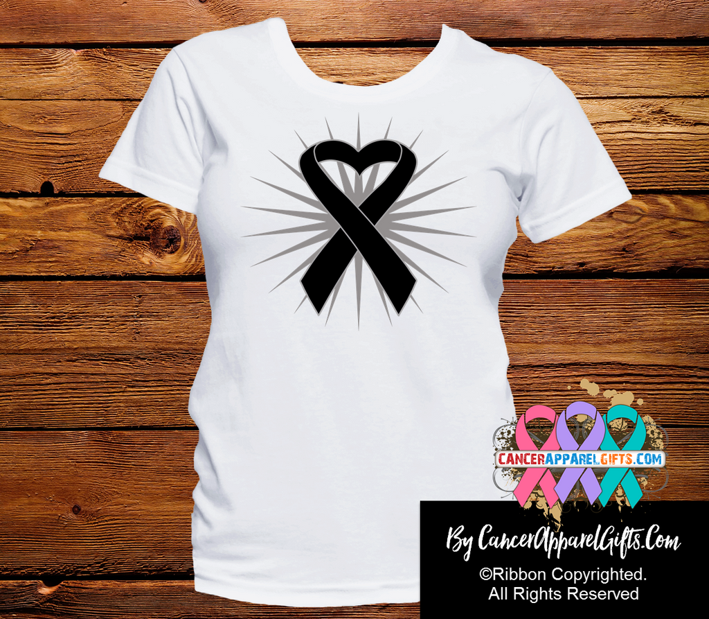 Melanoma Heart Ribbon Shirts