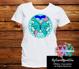 Thyroid Cancer Stunning Butterfly Shirts - Cancer Apparel and Gifts