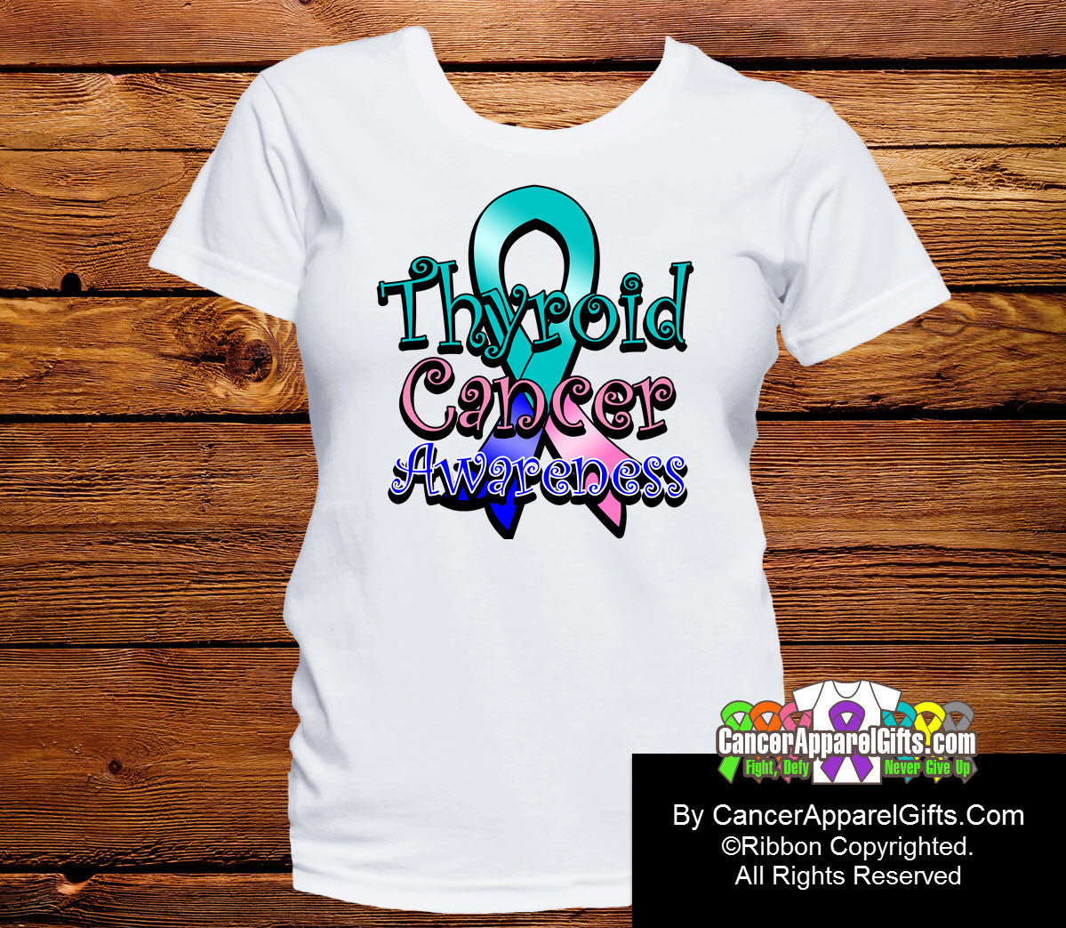 Thyroid Cancer Awareness Ribbon Shirts