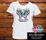 Thyroid Cancer Butterfly Ribbon Shirts