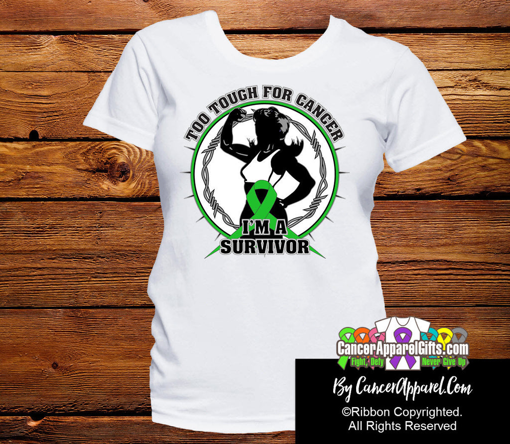 Too Tough For Bile Duct Cancer Shirts