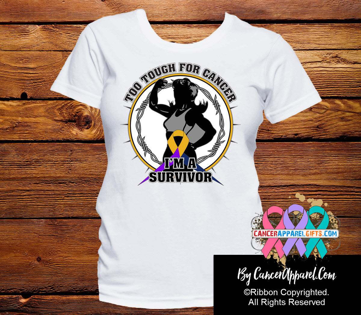 Too Tough For Bladder Cancer Shirts