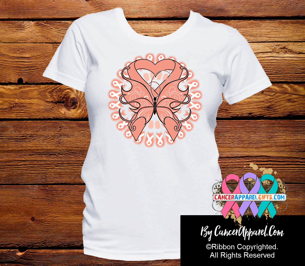 Uterine Cancer Stunning Butterfly Shirts