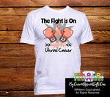 Uterine Cancer The Fight is On Men Shirts