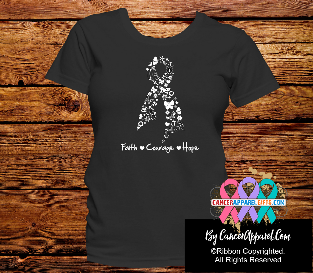 Lung Cancer Faith Courage Hope Shirts