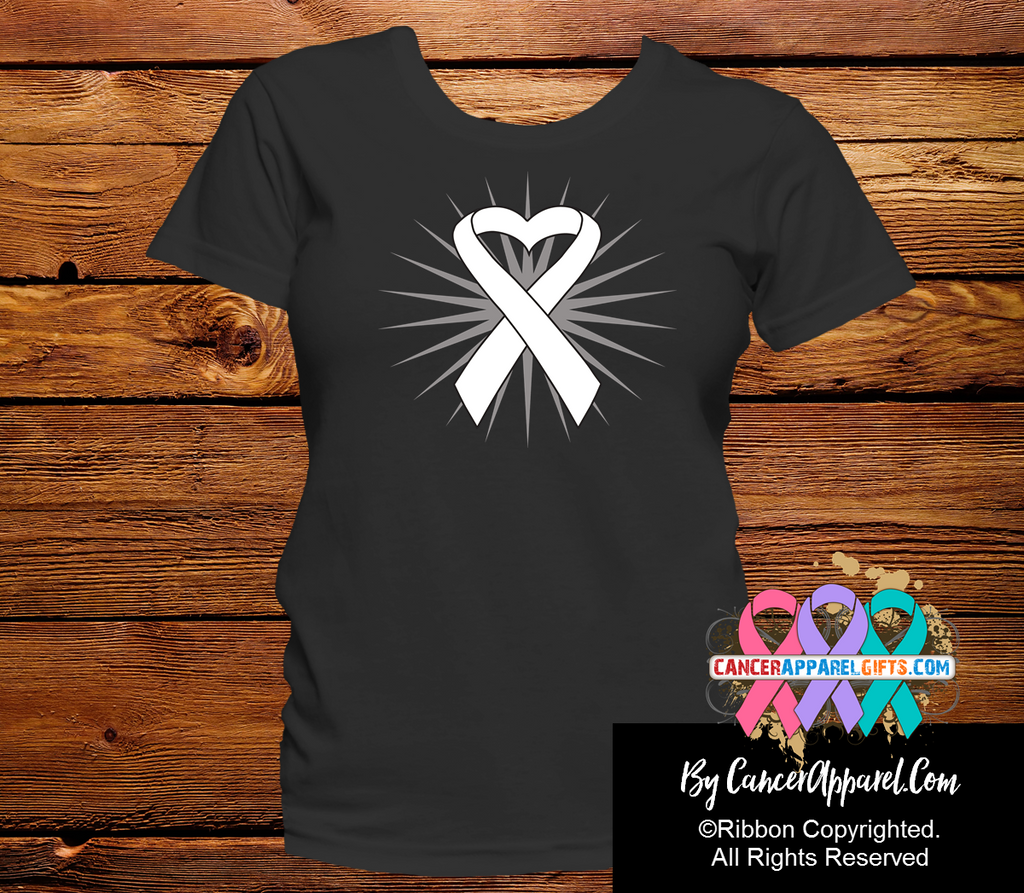 Lung Cancer Heart Ribbon Shirts
