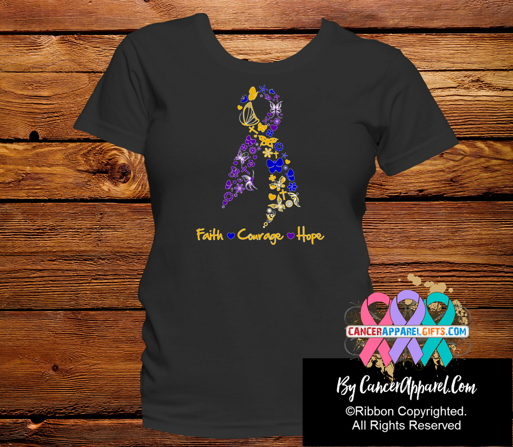 Bladder Cancer Faith Courage Hope Shirts
