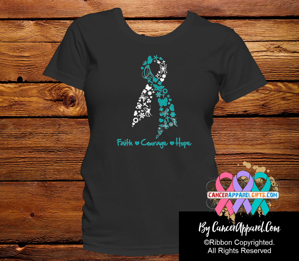 Cervical Cancer Faith Courage Hope Shirts
