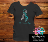 Cervical Cancer Faith Courage Hope Shirts - Cancer Apparel and Gifts