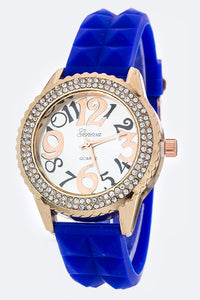 Fashion Crystal Bezel Watch
