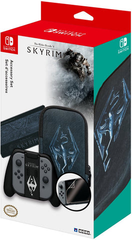 HORI The Elder Scrolls V Skyrim Limited Edition Accessory Set Officially Licensed by Nintendo & Bethesda for Nintendo Switch