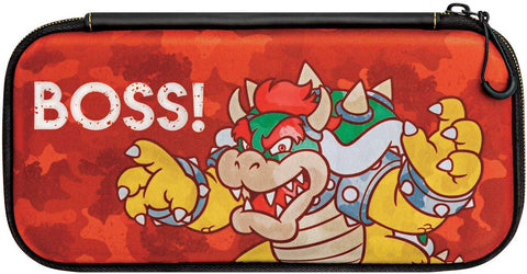 PDP Official Nintendo Switch Camo Super Mario Bros Bowser Slim Travel Case
