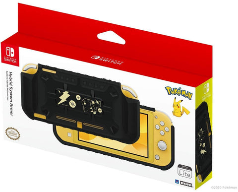HORI Nintendo Switch Lite Hybrid System Armor Case - Pokemon: Black & Gold Pikachu - Officially Licensed By Nintendo and the Pokemon