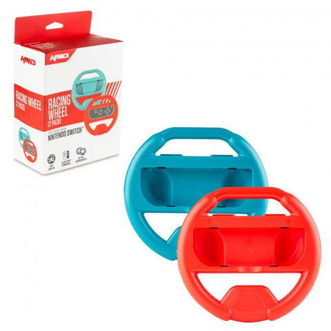 KMD Joy-Con Racing Wheel Dual Pack (Blue/Red) for Nintendo Switch