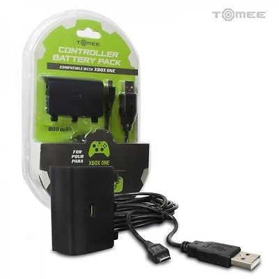 Tomee Xbox One Controller Rechargeable Battery Pack w/ Charge Cable for Xbox One