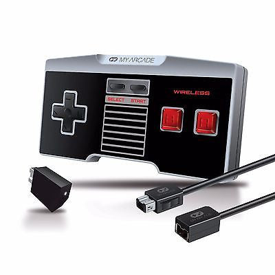 My Arcade GamePad Combo Kit Wireless Controller + Ext. Cable NES / SNES Classic Edition