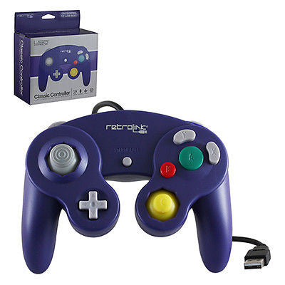 Retro-Link Nintendo GameCube Wired USB Controller for PC / Mac - Purple