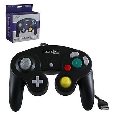 Retro-Link Nintendo GameCube Wired USB Controller for PC / Mac - Black